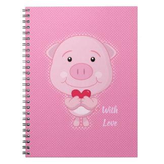 Caderno do porco dos namorados