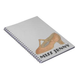 Caderno do presente do professor da dança do