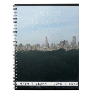 Caderno do Promo da skyline do Central Park