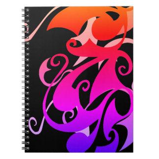 Caderno do redemoinho do arco-íris