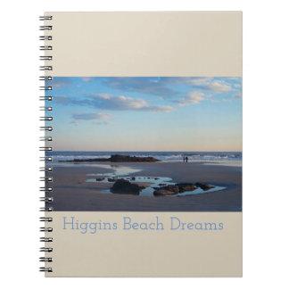 Caderno do sonho da praia de Higgins