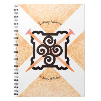 Caderno do teste padrão dos knitters das agulhas