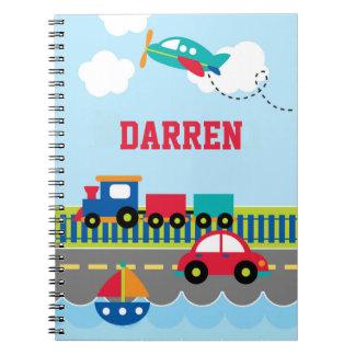 Caderno do transporte