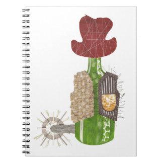 Caderno do vaqueiro da garrafa