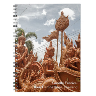 Caderno do viagem do festival da vela de Ubon