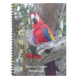 Caderno do viagem do pássaro da selva de Costa