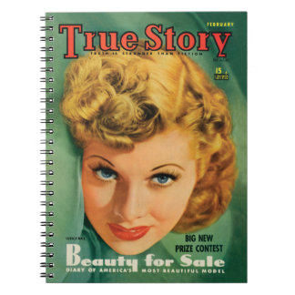 Caderno do vintage de Lucille Ball desde 1941
