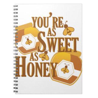 Caderno Doce como o mel