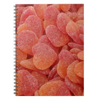 Caderno doces coloridos