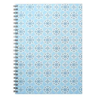 Caderno dos azul-céu do vintage