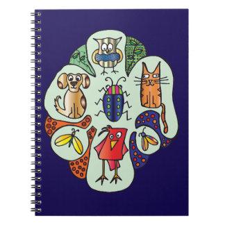 Caderno dos bichos da natureza