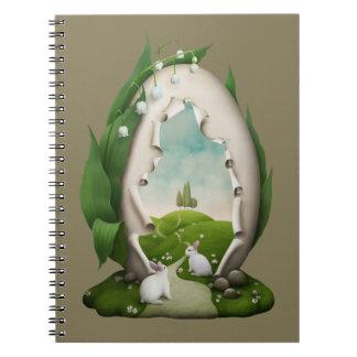 Caderno dos coelhos do ovo da páscoa