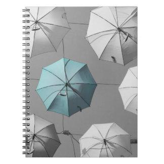 Caderno dos guarda-chuvas