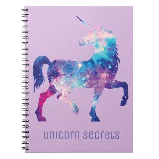 Caderno dos segredos do unicórnio do Lilac