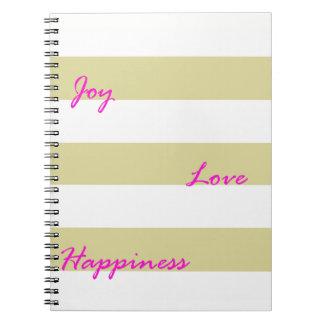 Caderno dourado da alegria