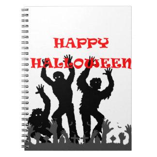 Caderno drooling do zombi do Dia das Bruxas