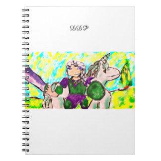 Caderno Duende e unicórnio
