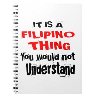CADERNO É DESIGN FILIPINO DA COISA