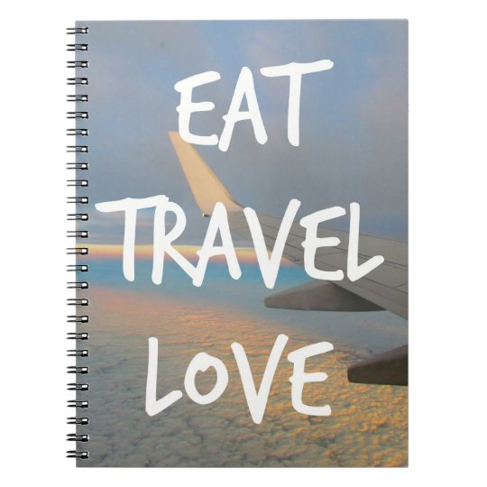 "Caderno ""Eat, Travel, Love"""
