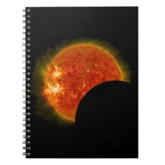 Caderno Eclipse solar em andamento