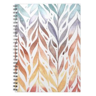 Caderno elegante das folhas de outono | da