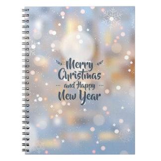 Caderno elegante do Natal & do feliz ano novo |
