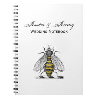 Caderno Emblema heráldico formal C da brasão da abelha do
