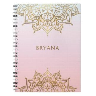 Caderno Encanto moderno do encanto chique do pêssego do