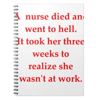 Caderno enfermeira