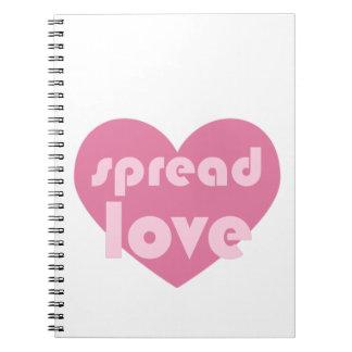 Caderno Espalhe o amor (geral)