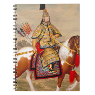 Caderno Espiral 乾隆帝 do imperador do Qianlong de China na armadura