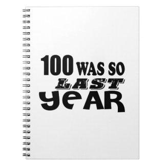 Caderno Espiral 100 eram assim tão no ano passado design do