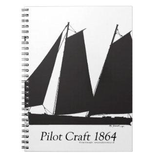 Caderno Espiral 1864 artesanato piloto - fernandes tony