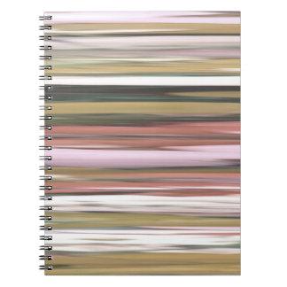 Caderno Espiral #2 abstrato: Borrão das cores da queda do outono