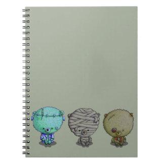 Caderno Espiral 3 monstro pequenos