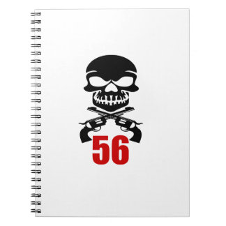 Caderno Espiral 56 designs do aniversário