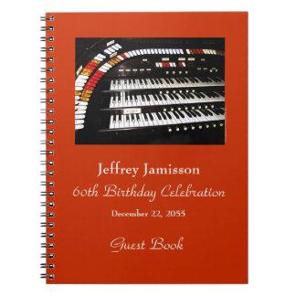 Caderno Espiral 60th Livro de hóspedes da festa de aniversário,