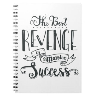 Caderno Espiral A atitude do sucesso sonha citações inspiradores