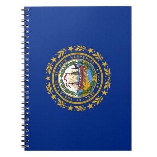 Caderno Espiral A bandeira de New Hampshire