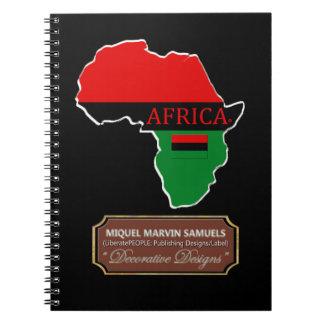 Caderno Espiral A bandeira do esboço do país de África colore o