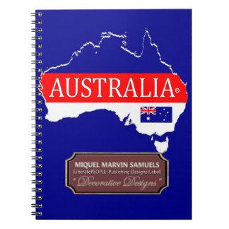 Caderno Espiral A bandeira do esboço do país de Austrália colore