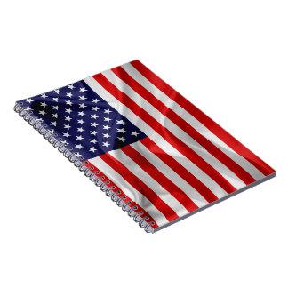Caderno Espiral A bandeira dos Estados Unidos da América