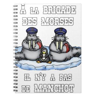 Caderno Espiral À BRIGADA dos MORSE não há MANETA