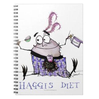 Caderno Espiral a dieta dos haggis