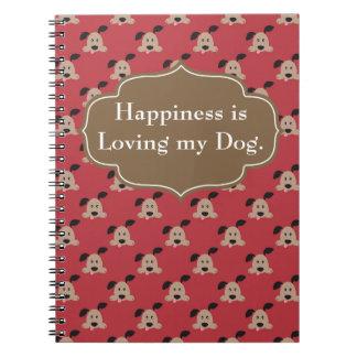 Caderno Espiral A felicidade é jornal Loving do cão