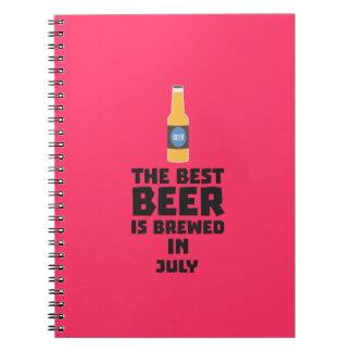 Caderno Espiral A melhor cerveja é em julho Z4kf3 fabricado