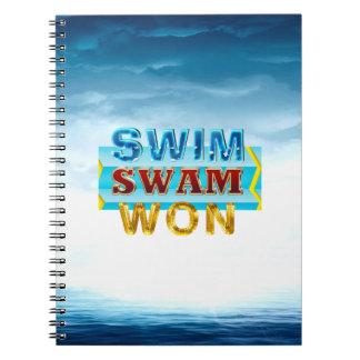 Caderno Espiral A natação SUPERIOR nadou ganhado