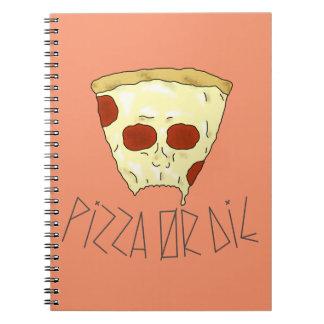 Caderno Espiral A pizza ou morre