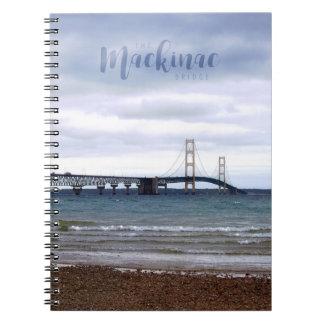 Caderno Espiral A ponte de Mackinac