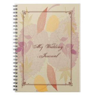 Caderno Espiral A queda rústica deixa o jornal do casamento